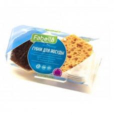 Фигурные губки для посуды FABELLA (2 шт) (Н101)