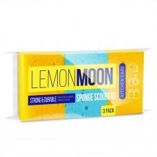 Поролоновые губки для посуды LEMONMOON (3 штуки) (L003)