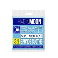 Салфетки губчатые LEMONMOON маленькие (3 шт) (L500)